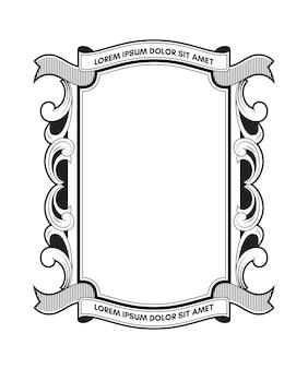 Retro frame met banner