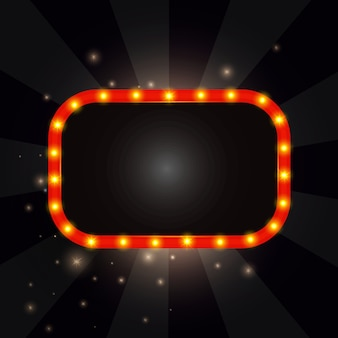 Retro frame met verlichting