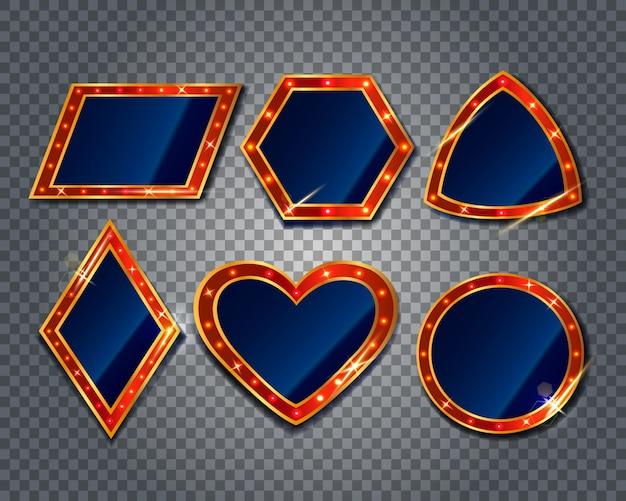 Retro frames met gloeilampen