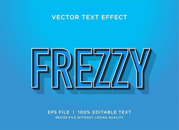 Retro frezzy tekststijleffect