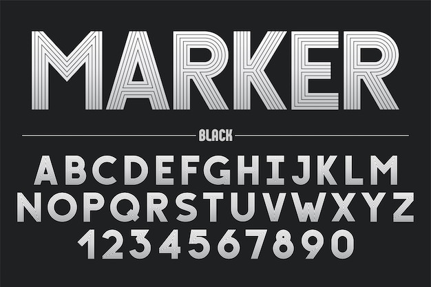 Retro futuristisch gewaagd decoratief lettertype