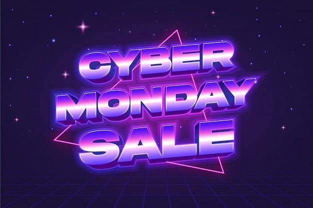 Retro futuristische cyber maandag