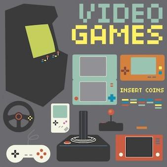 Retro game console collection