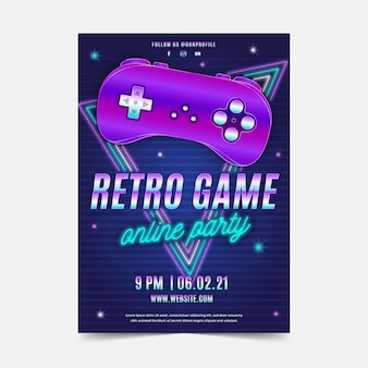 Retro gaming poster illustratie