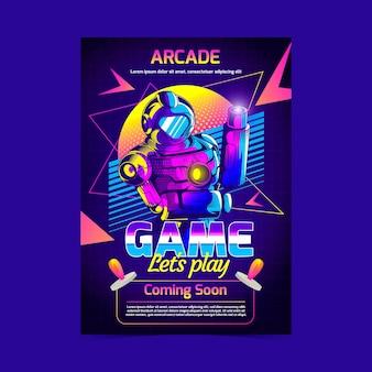 Retro gaming poster sjabloon