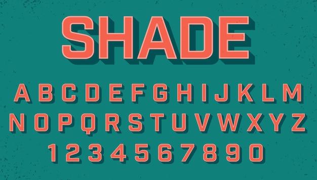 Retro gearceerde lettertypeset