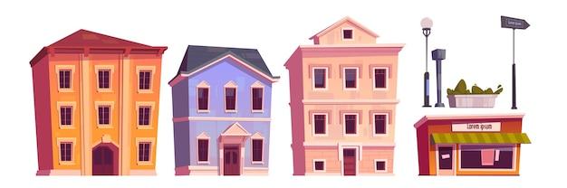 Retro gebouwen geïsoleerd