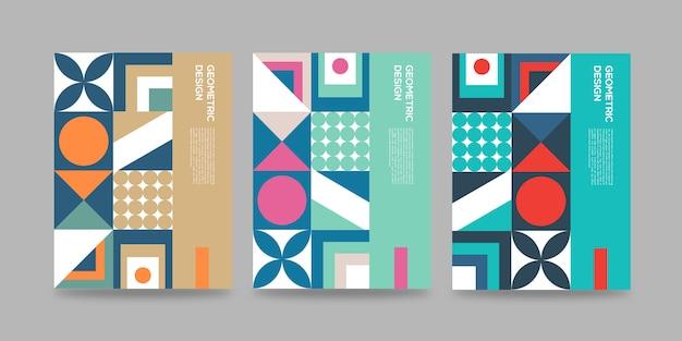 Retro geometrische cover abstract