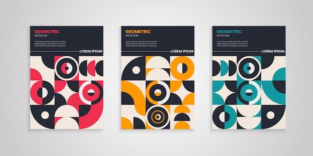 Retro geometrische cover-collectie