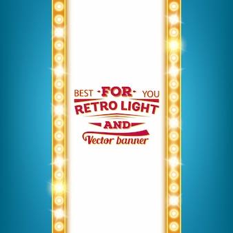 Retro gloeilamp toespraak bubble banner.