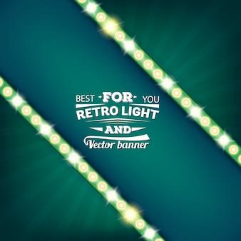 Retro gloeilamp vector tekstballon banner.