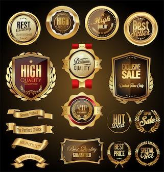 Retro gouden badge