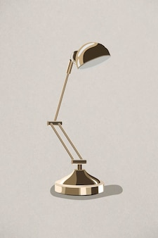 Retro gouden lamp ontwerpelement