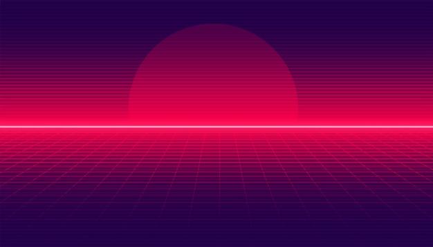 Retro gradiëntachtergrond in lineaire stijl
