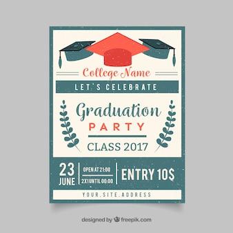 Retro graduatie partij uitnodiging