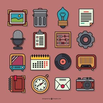 Retro grafische iconen