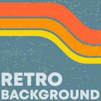 Retro grunge textuur achtergrond met vintage kleur strepen.