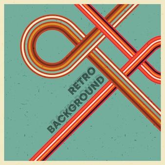 Retro grunge textuur achtergrond met vintage kleurrijke strepen.