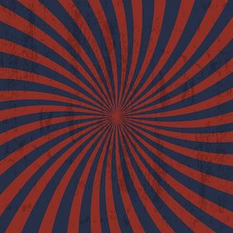 Retro grungeachtergrond met stralen. abstract achtergrond vintage design, vectorillustratie