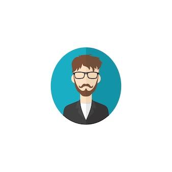 Retro heer avatar portret profielfoto pictogram