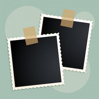 Retro het plakboekontwerp van fotokaders