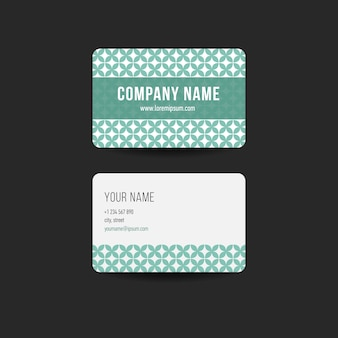Retro hipster visitekaartje ontwerp sjabloon. groene kleur