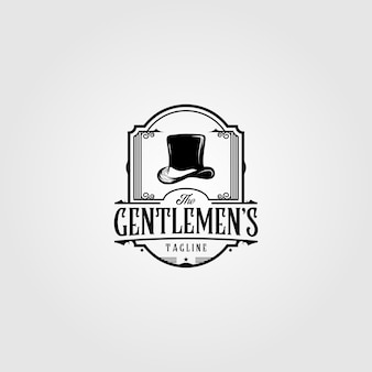 Retro hoge hoed logo