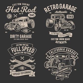 Retro hotrod-ontwerp