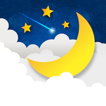 Retro illustratie maan