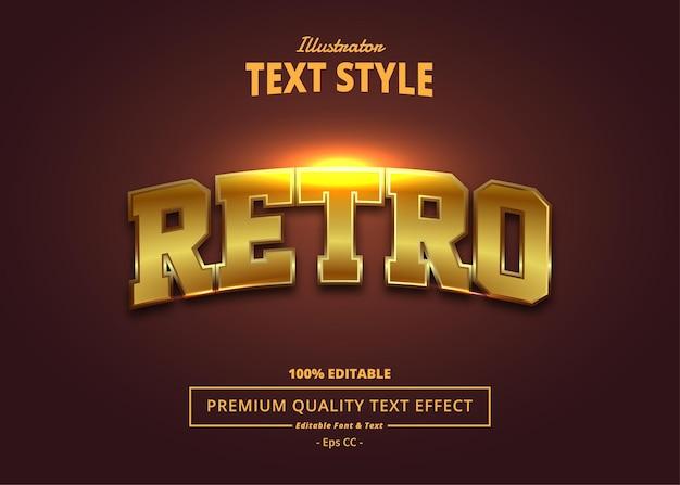 Retro illustrator-teksteffect