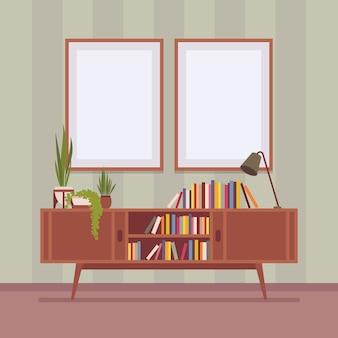 Retro interieur met twee frames