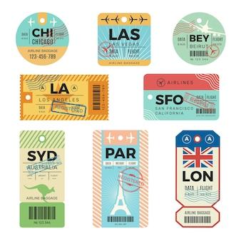 Retro kaartjes voor reizigers