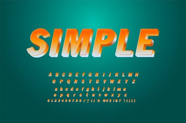 Retro kauwgom vet lettertype ontwerp