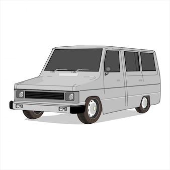Retro klassieke auto illustratie