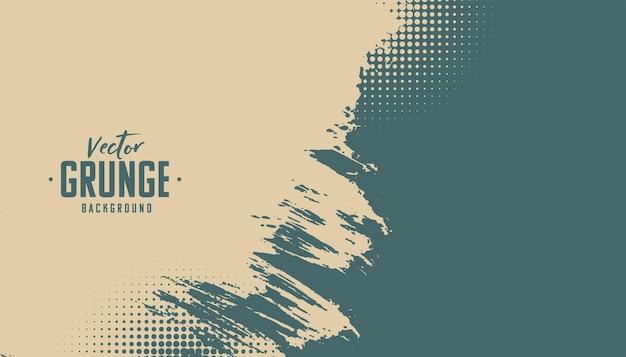 Retro kleuren grunge textuur met halftoon