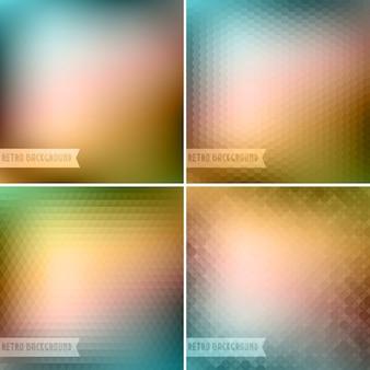 Retro kleurrijke achtergrond collectie