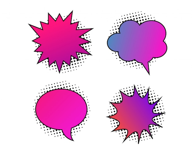 Retro kleurrijke komische tekstballon