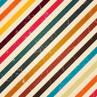 Retro kleurrijke streep met grunge filter