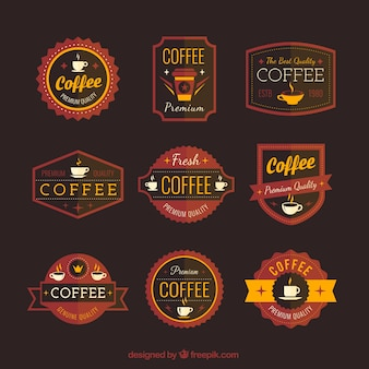 Retro koffie badges