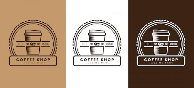 Retro koffie winkel logo sjabloon