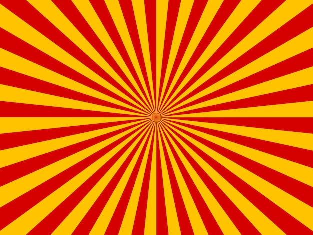 Retro komisch geel en rood