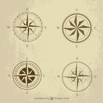 Retro kompas pak