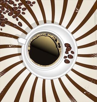 Retro kopje koffie achtergrond
