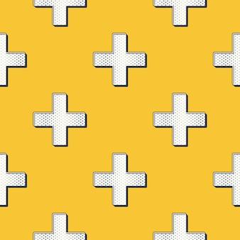 Retro kruisen patroon, abstracte geometrische achtergrond in de jaren 80, 90 stijl. geometrische eenvoudige illustratie