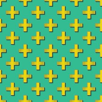 Retro kruisen patroon. abstracte geometrische achtergrond in de stijl van de jaren 80, 90. geometrische eenvoudige illustratie