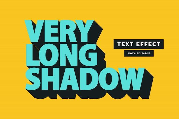 Retro lange schaduw teksteffect, bewerkbare tekst