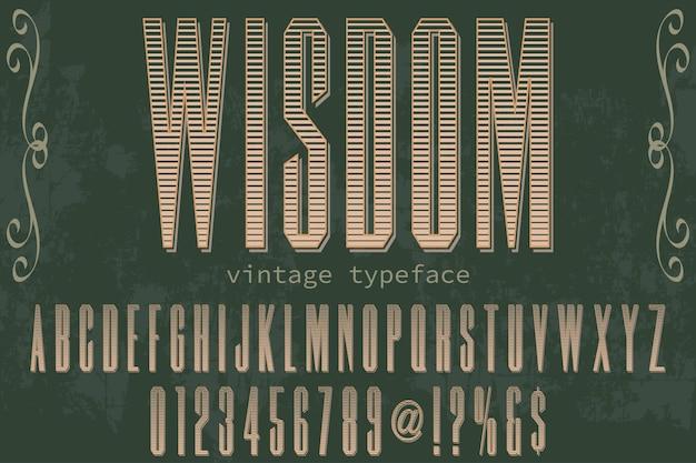 Retro letterontwerp ontwerp wijsheid
