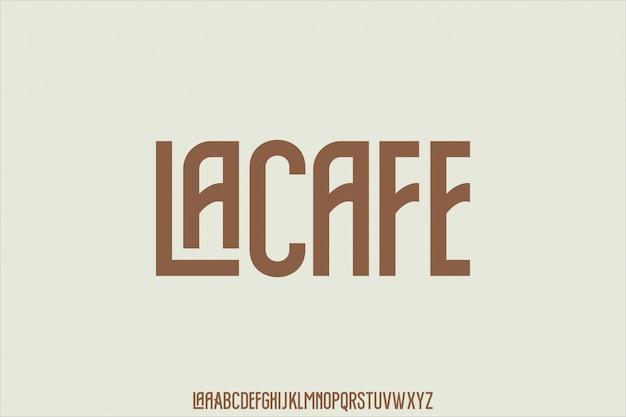 Retro lettertype alfabet set