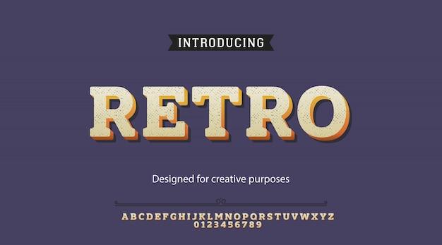 Retro lettertype.