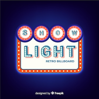 Retro licht billboard